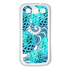 Teal Sea Forest, Abstract Underwater Ocean Samsung Galaxy S3 Back Case (white) by DianeClancy