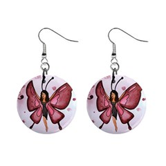 Butterfly Girl Mini Button Earrings by CaterinaBassano