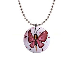 Butterfly Girl Button Necklace by CaterinaBassano