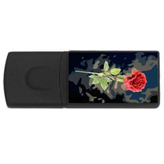 Long Stem Rose 4GB USB Flash Drive (Rectangle) by Rbrendes
