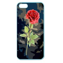 Long Stem Rose Apple Seamless Iphone 5 Case (color) by Rbrendes