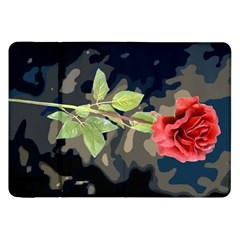 Long Stem Rose Samsung Galaxy Tab 8 9  P7300 Flip Case