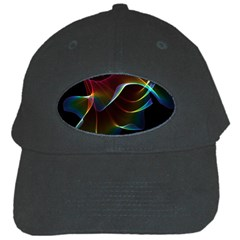 Imagine, Through The Abstract Rainbow Veil Black Baseball Cap by DianeClancy