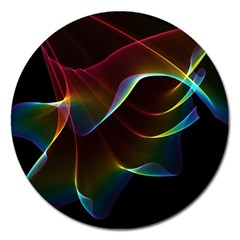Imagine, Through The Abstract Rainbow Veil Magnet 5  (round) by DianeClancy