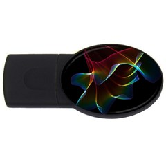 Imagine, Through The Abstract Rainbow Veil 2gb Usb Flash Drive (oval) by DianeClancy