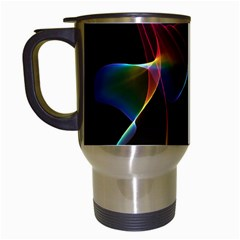 Imagine, Through The Abstract Rainbow Veil Travel Mug (white) by DianeClancy