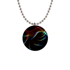 Imagine, Through The Abstract Rainbow Veil Button Necklace by DianeClancy