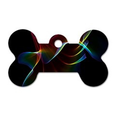 Imagine, Through The Abstract Rainbow Veil Dog Tag Bone (two Sided) by DianeClancy