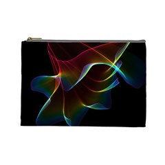 Imagine, Through The Abstract Rainbow Veil Cosmetic Bag (large) by DianeClancy