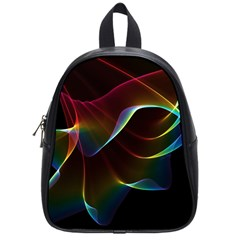 Imagine, Through The Abstract Rainbow Veil School Bag (small) by DianeClancy