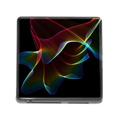 Imagine, Through The Abstract Rainbow Veil Memory Card Reader With Storage (square)