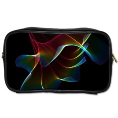 Imagine, Through The Abstract Rainbow Veil Travel Toiletry Bag (one Side) by DianeClancy