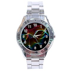 Imagine, Through The Abstract Rainbow Veil Stainless Steel Watch by DianeClancy