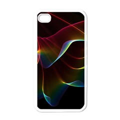 Imagine, Through The Abstract Rainbow Veil Apple Iphone 4 Case (white) by DianeClancy