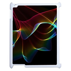 Imagine, Through The Abstract Rainbow Veil Apple Ipad 2 Case (white) by DianeClancy