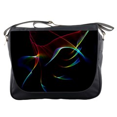 Imagine, Through The Abstract Rainbow Veil Messenger Bag by DianeClancy