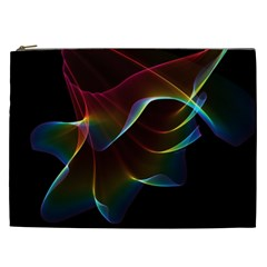 Imagine, Through The Abstract Rainbow Veil Cosmetic Bag (xxl) by DianeClancy