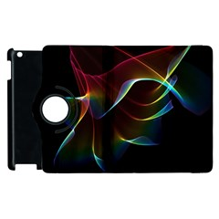 Imagine, Through The Abstract Rainbow Veil Apple Ipad 2 Flip 360 Case by DianeClancy