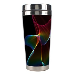 Imagine, Through The Abstract Rainbow Veil Stainless Steel Travel Tumbler by DianeClancy