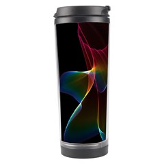 Imagine, Through The Abstract Rainbow Veil Travel Tumbler by DianeClancy