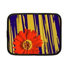Red Flower Netbook Sleeve (Small) by Rbrendes