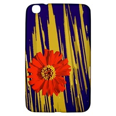 Red Flower Samsung Galaxy Tab 3 (8 ) T3100 Hardshell Case  by Rbrendes