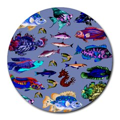 Fishy 8  Mouse Pad (round)