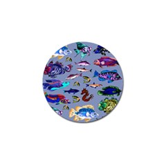 Fishy Golf Ball Marker 4 Pack by Rbrendes