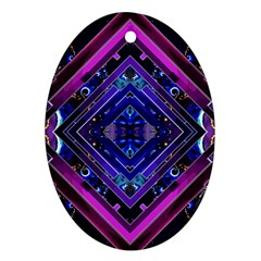 Galaxy Oval Ornament (two Sides)