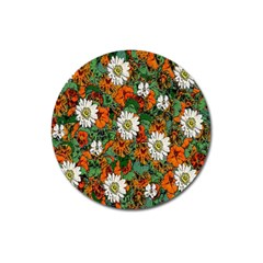 Flowers Magnet 3  (round)