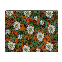 Flowers Cosmetic Bag (xl) by Rbrendes