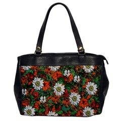 Flowers Oversize Office Handbag (one Side) by Rbrendes