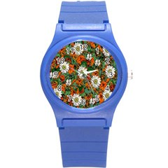 Flowers Plastic Sport Watch (small) by Rbrendes
