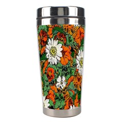 Flowers Stainless Steel Travel Tumbler
