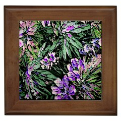 Garden Greens Framed Ceramic Tile by Rbrendes
