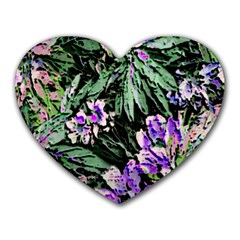 Garden Greens Mouse Pad (heart) by Rbrendes