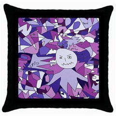 Fms Confusion Black Throw Pillow Case by FunWithFibro