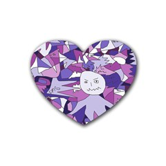Fms Confusion Drink Coasters 4 Pack (heart)  by FunWithFibro