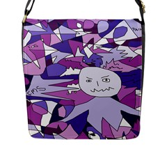 Fms Confusion Flap Closure Messenger Bag (large) by FunWithFibro