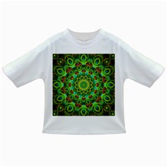 Peacock Feathers Mandala Baby T Shirt by Zandiepants