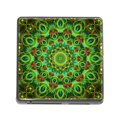 Peacock Feathers Mandala Memory Card Reader With Storage (square) by Zandiepants