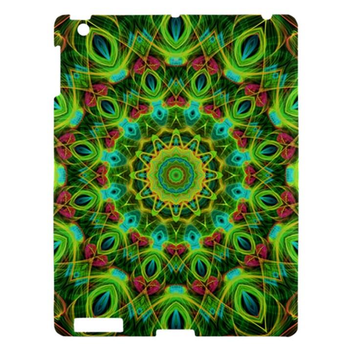 Peacock Feathers Mandala Apple iPad 3/4 Hardshell Case