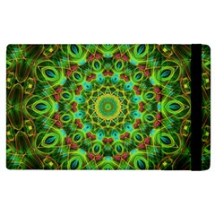 Peacock Feathers Mandala Apple Ipad 2 Flip Case by Zandiepants