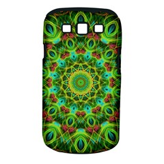 Peacock Feathers Mandala Samsung Galaxy S Iii Classic Hardshell Case (pc+silicone) by Zandiepants