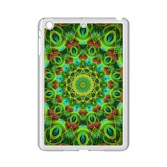 Peacock Feathers Mandala Apple Ipad Mini 2 Case (white) by Zandiepants