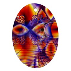 Winter Crystal Palace, Abstract Cosmic Dream Ornament (oval) by DianeClancy