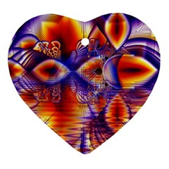 Winter Crystal Palace, Abstract Cosmic Dream Ornament (heart) by DianeClancy