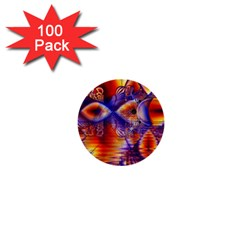 Winter Crystal Palace, Abstract Cosmic Dream 1  Mini Button (100 Pack)  by DianeClancy
