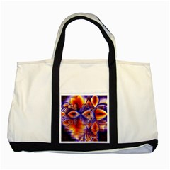 Winter Crystal Palace, Abstract Cosmic Dream Two Tone Tote Bag by DianeClancy