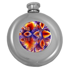 Winter Crystal Palace, Abstract Cosmic Dream Hip Flask (5 Oz) by DianeClancy